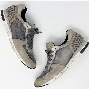 Paul Green Shimmer Metallic Stud Heel Sneaker